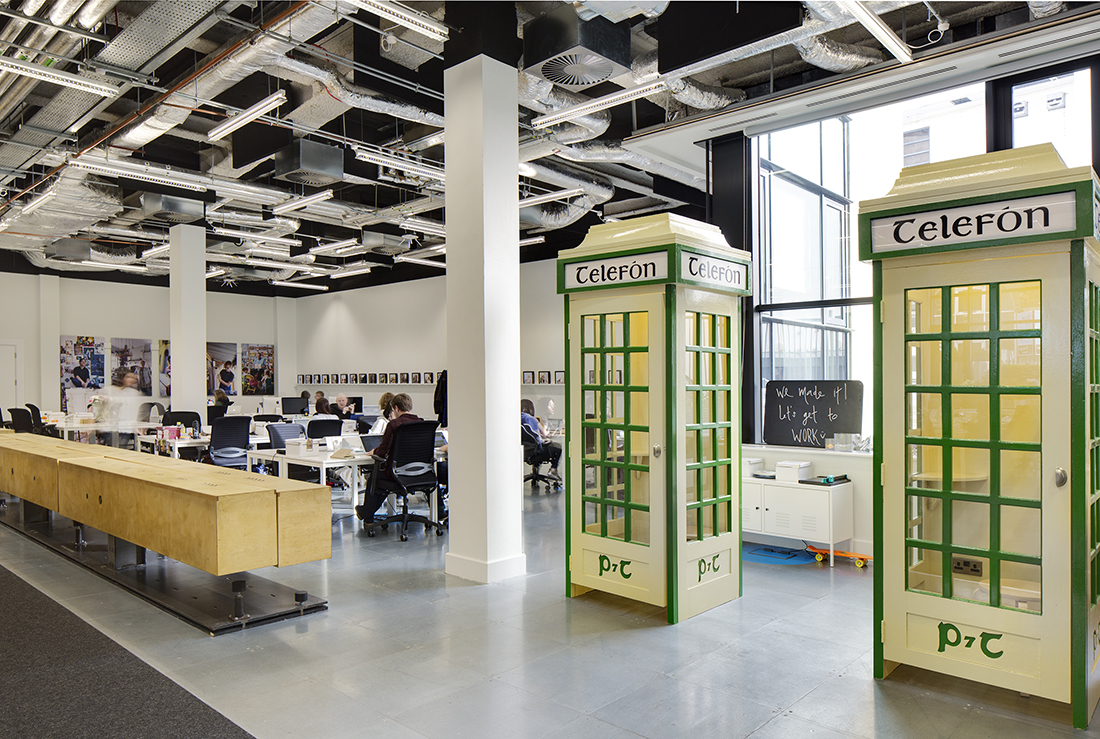 Airbnb s european operations hub in dublin officelovin for Kantoor interieur