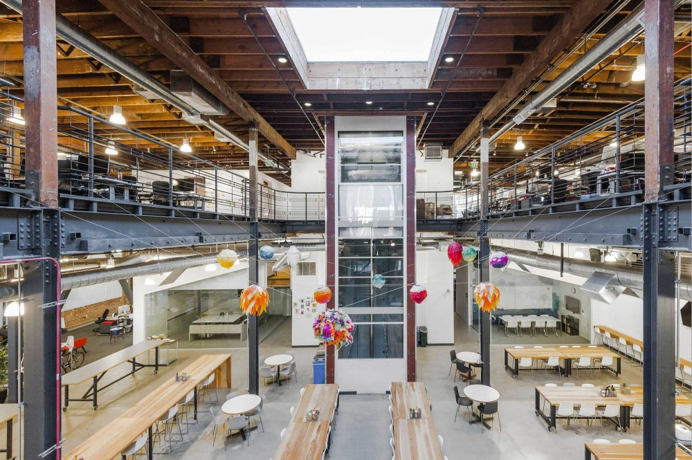 Pinterest s trendy headquarters in san francisco s soma for Office design pinterest