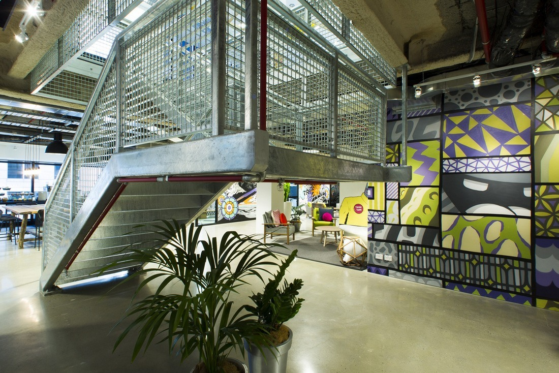 facebook office design. Stairs In The Background\u2026 Facebook Office Design