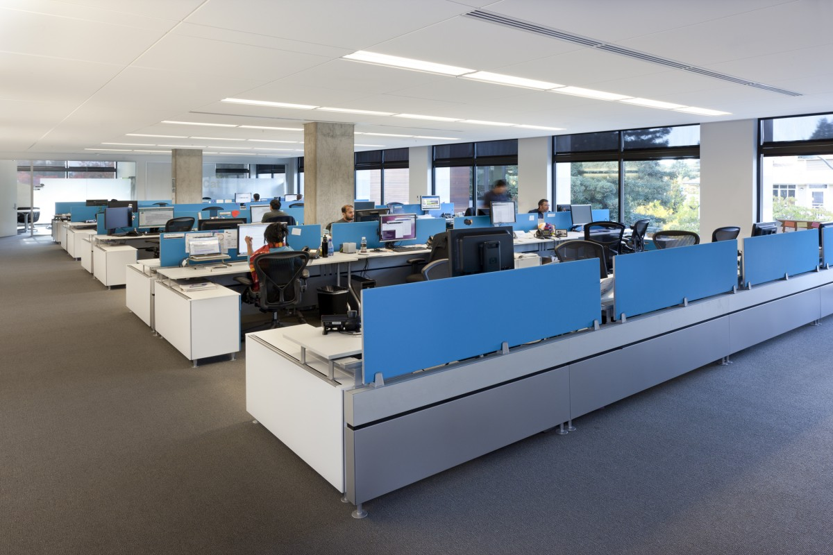 software company office. Workspace\u2026 Software Company Office