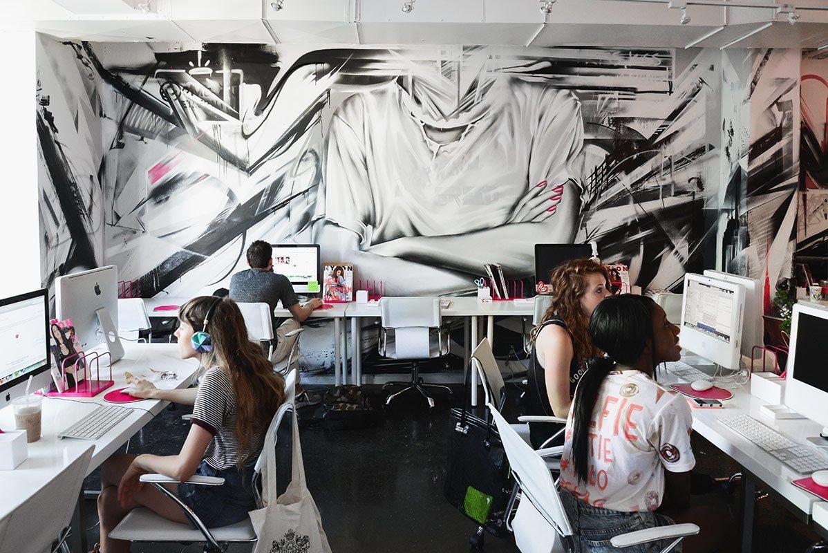 Inside nylon magazine s new york city offices officelovin 39 for Office design publications