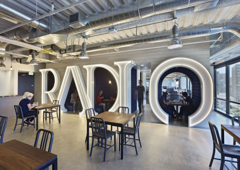 Another look inside pandora s oakland headquarters for Top 10 office designs
