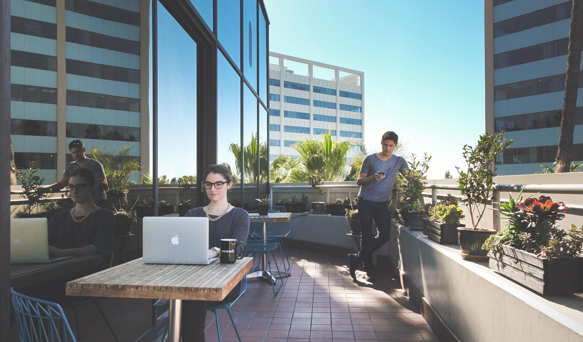 Wework coworking hollywood officelovin 39 for Balcony company