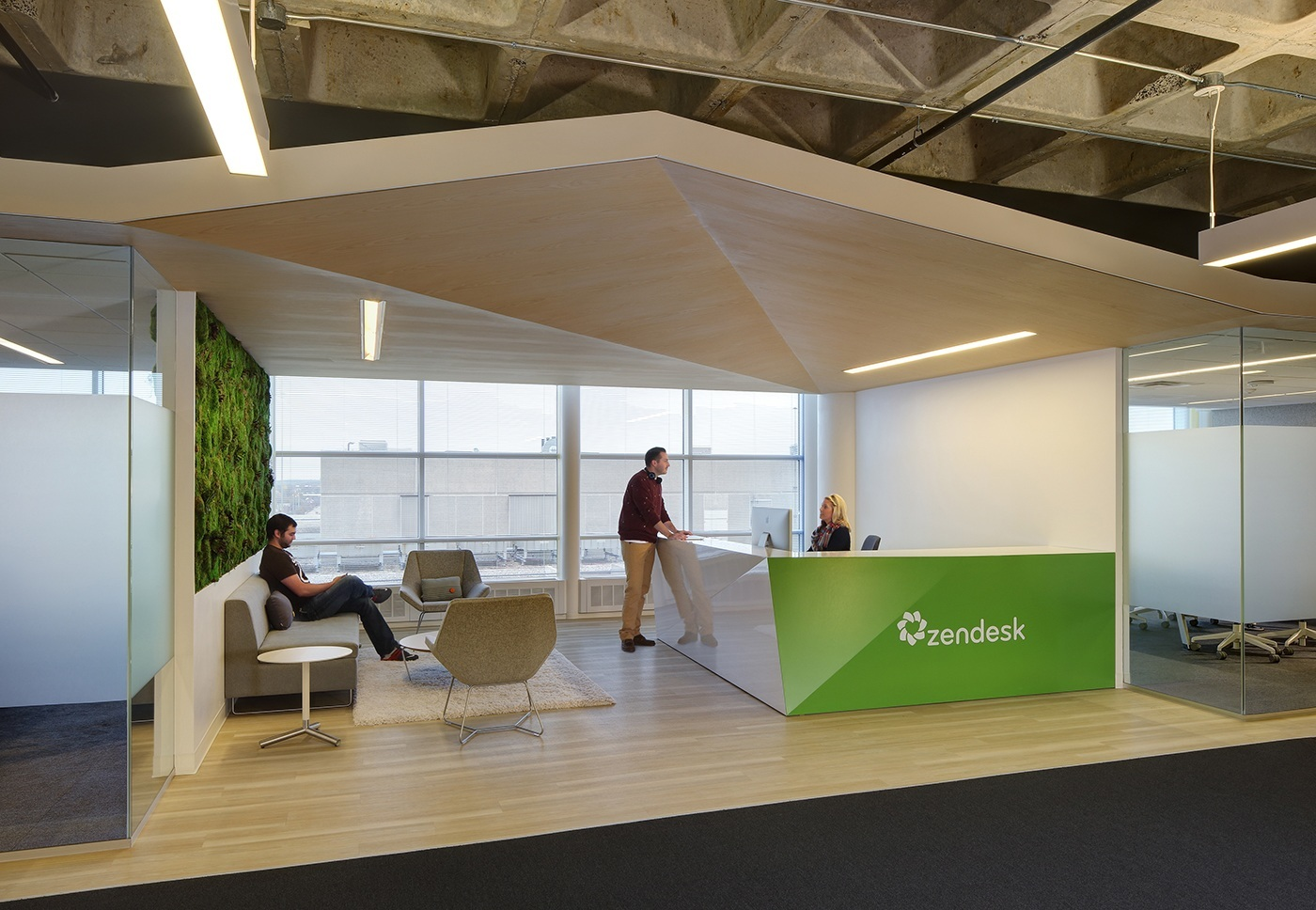 A peek inside zendesk s new madison offices officelovin 39 for Zen office design ideas