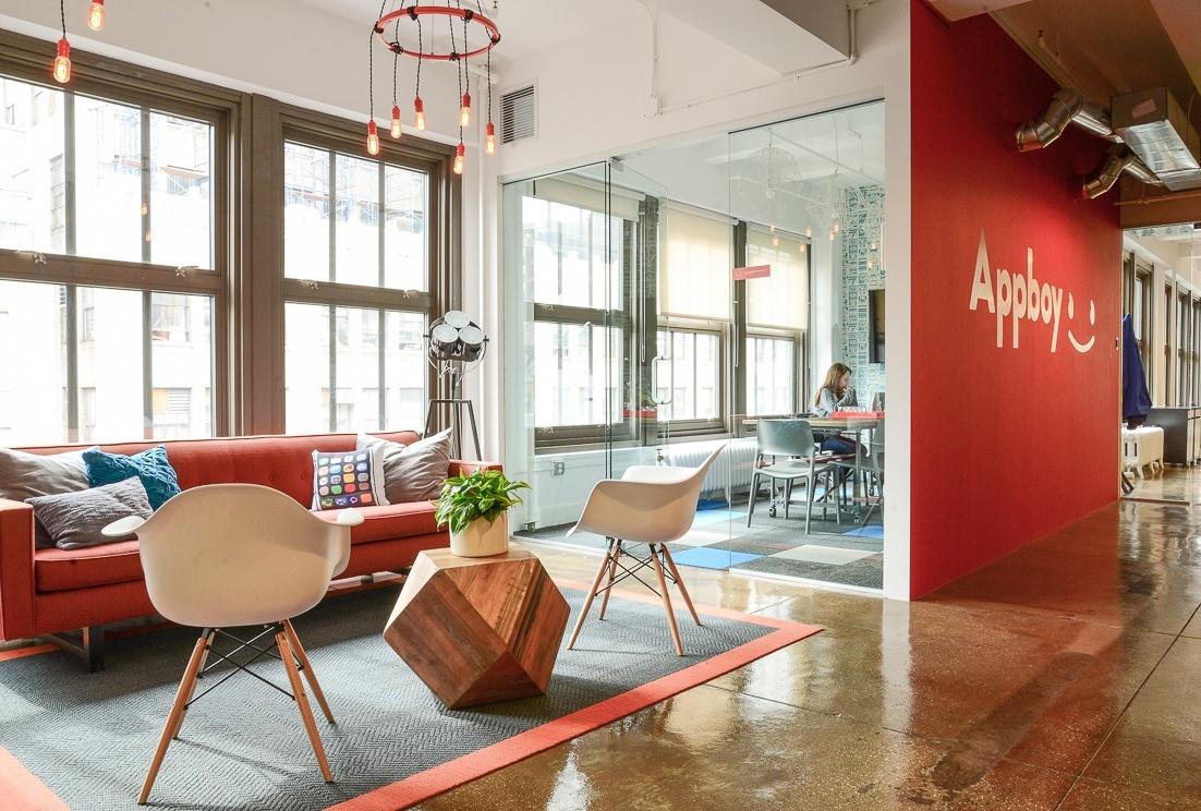 Inside appboys chic new york city office