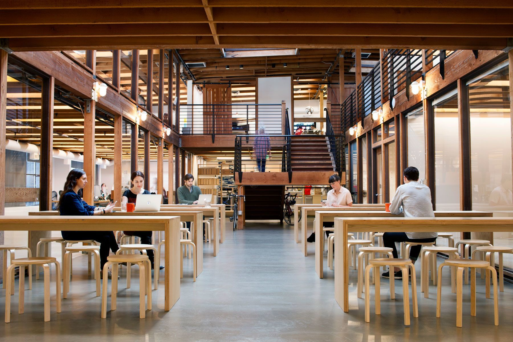 Take a tour of postmates beautiful san francisco office Design companies in san francisco