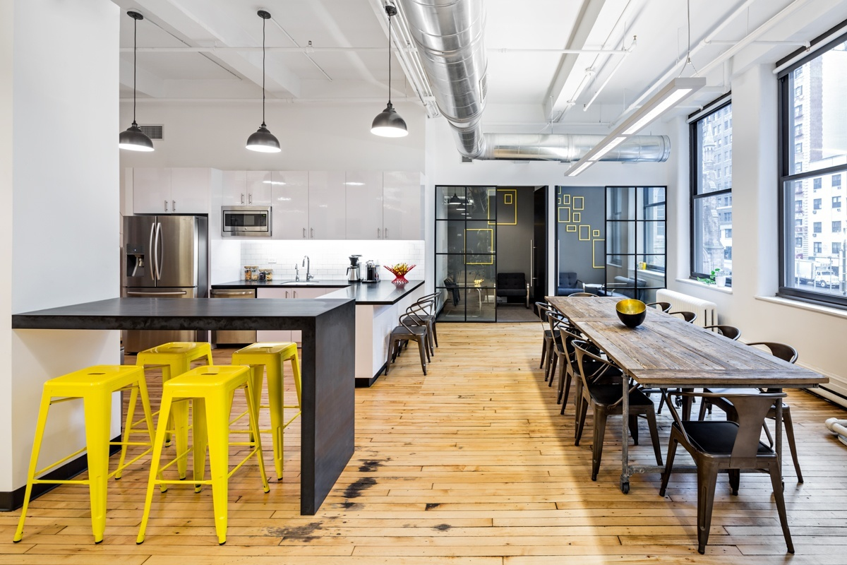 Kitchen Lighting Layout Inside Dailyburn S Sleek Headquarters In Nyc Officelovin