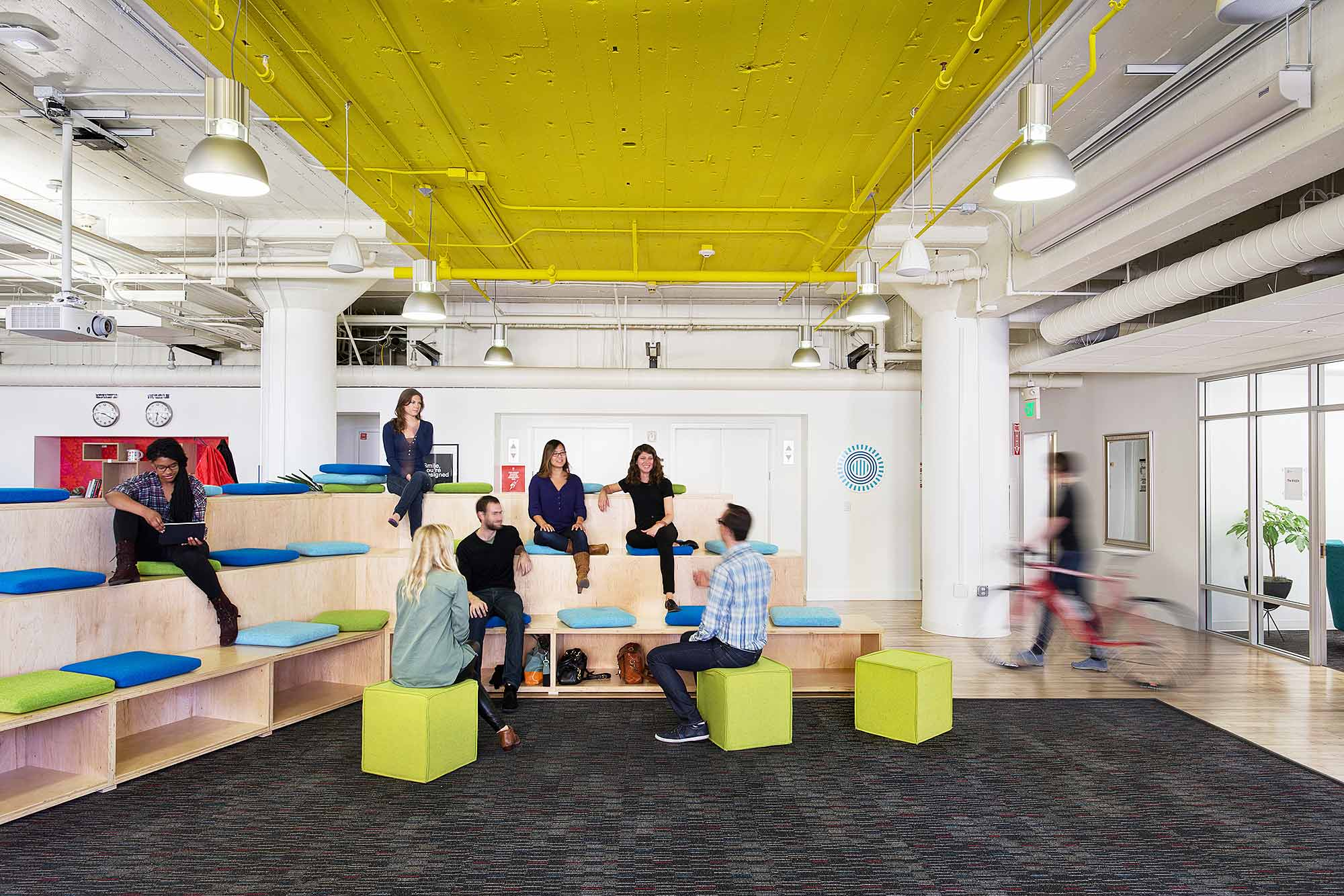 A peek inside prezi s cool san francisco office officelovin 39 for Interior design studium