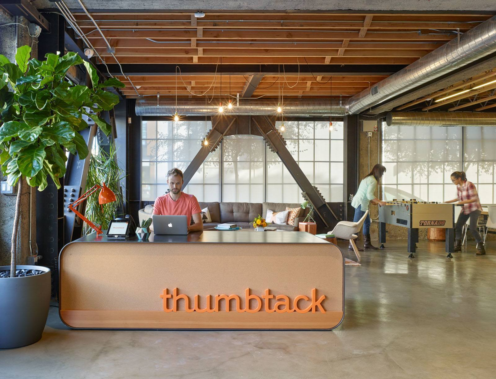 An exclusive look inside thumbtack s cool san francisco for Design companies in san francisco