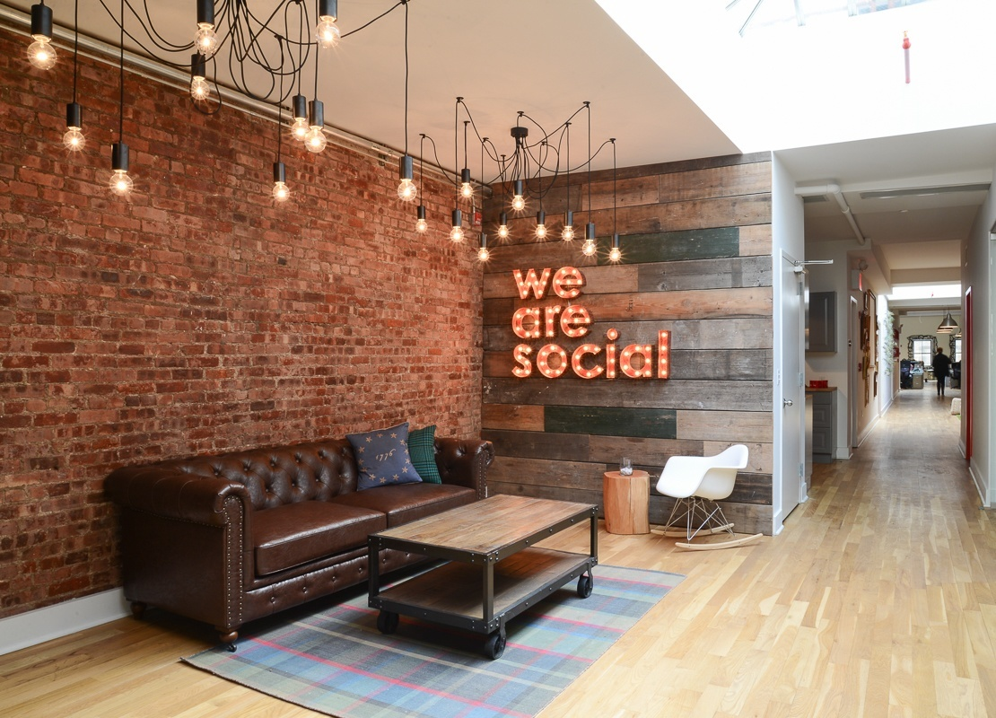 Inside we are social s gorgeous office in new york city officelovin 39 Interior design firms in new york city