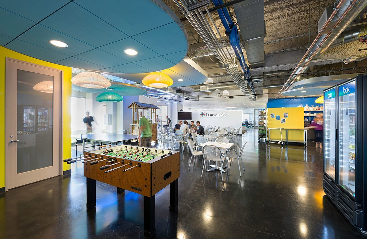 Take a tour of box s cool san francisco office officelovin 39 for Office design game