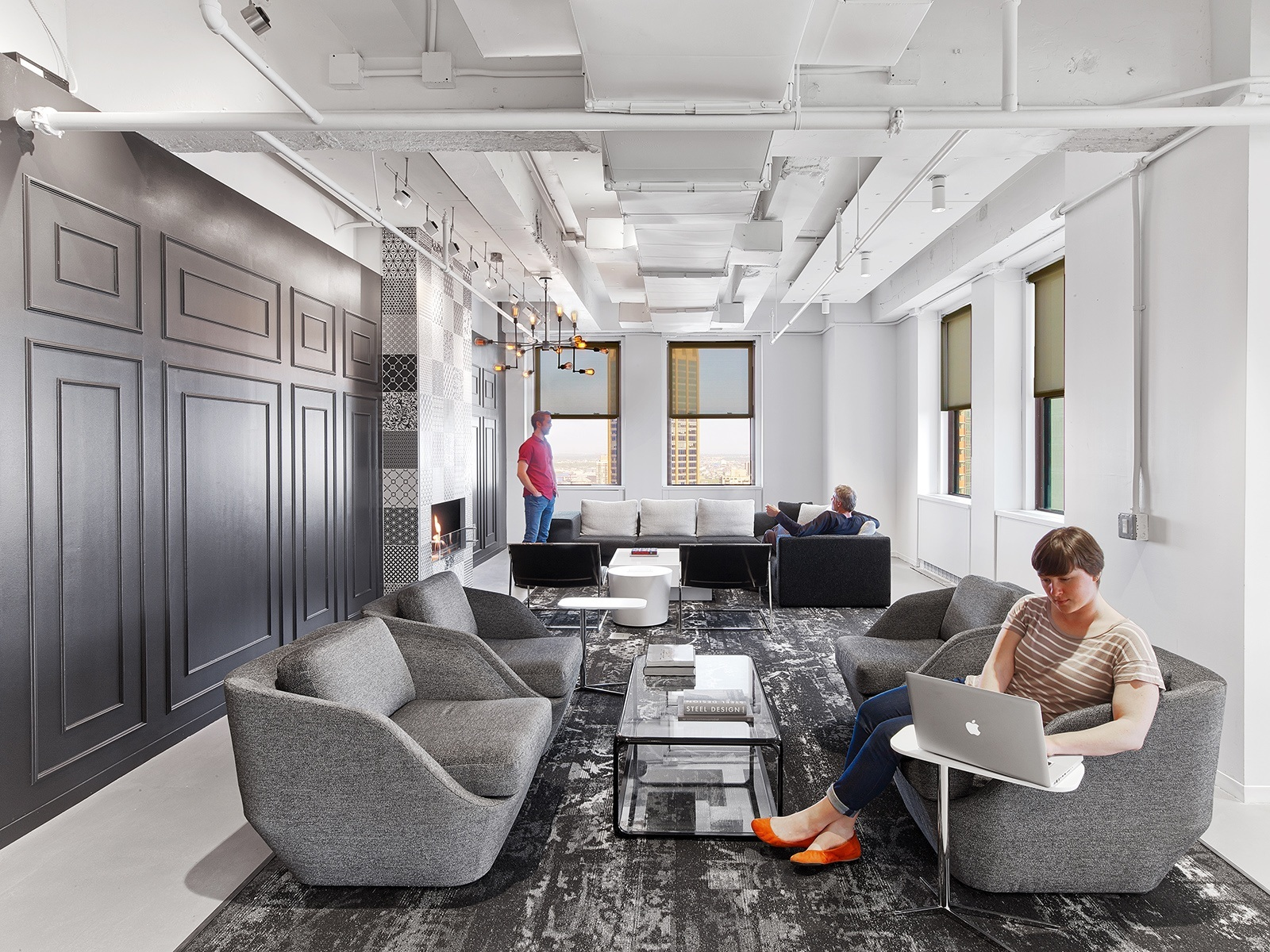 A tour of linkedin s beautiful new york city office for Interior design office new york