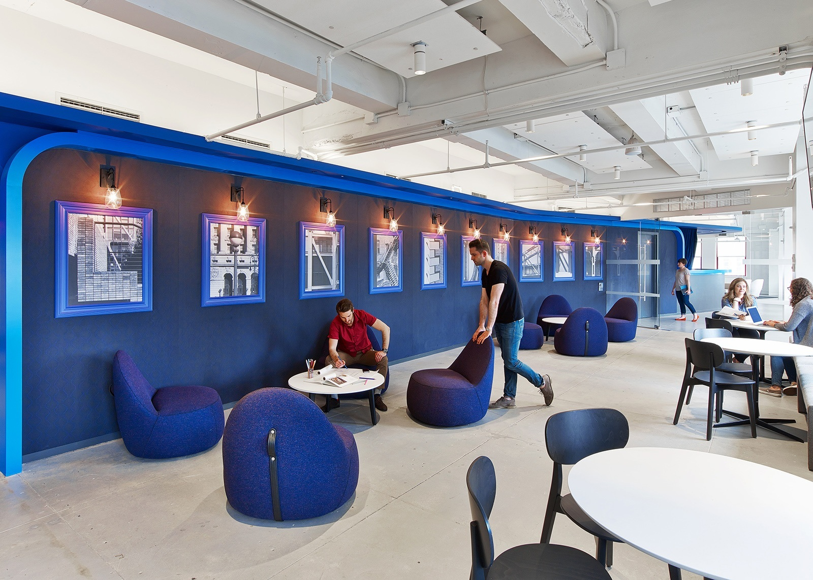 A tour of linkedin s beautiful new york city office for Office design instagram