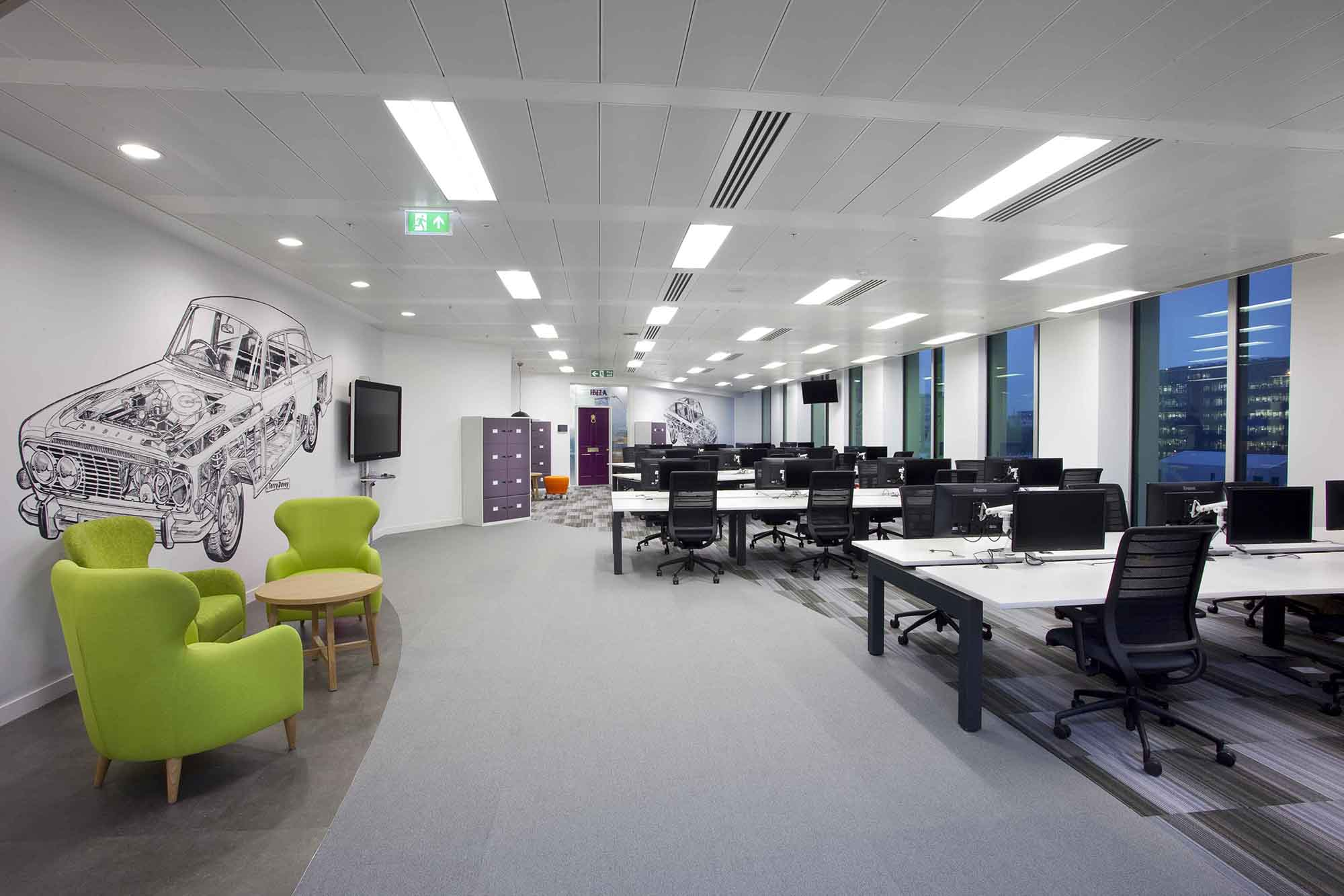A look inside autotrader s cool london office officelovin 39 for Office pictures