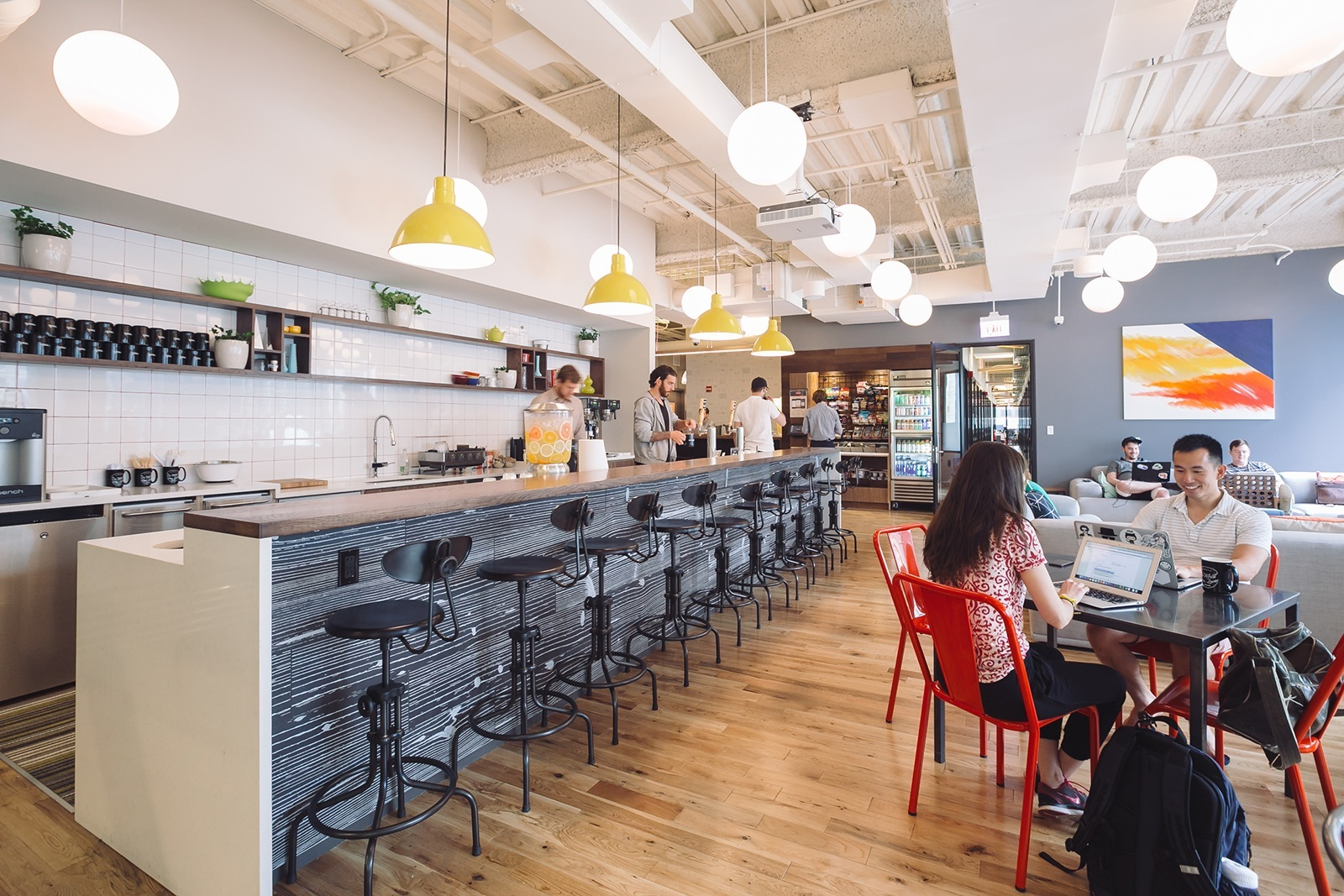 How To Design A New Kitchen Layout A Tour Of Wework S New Chicago Coworking Space Officelovin