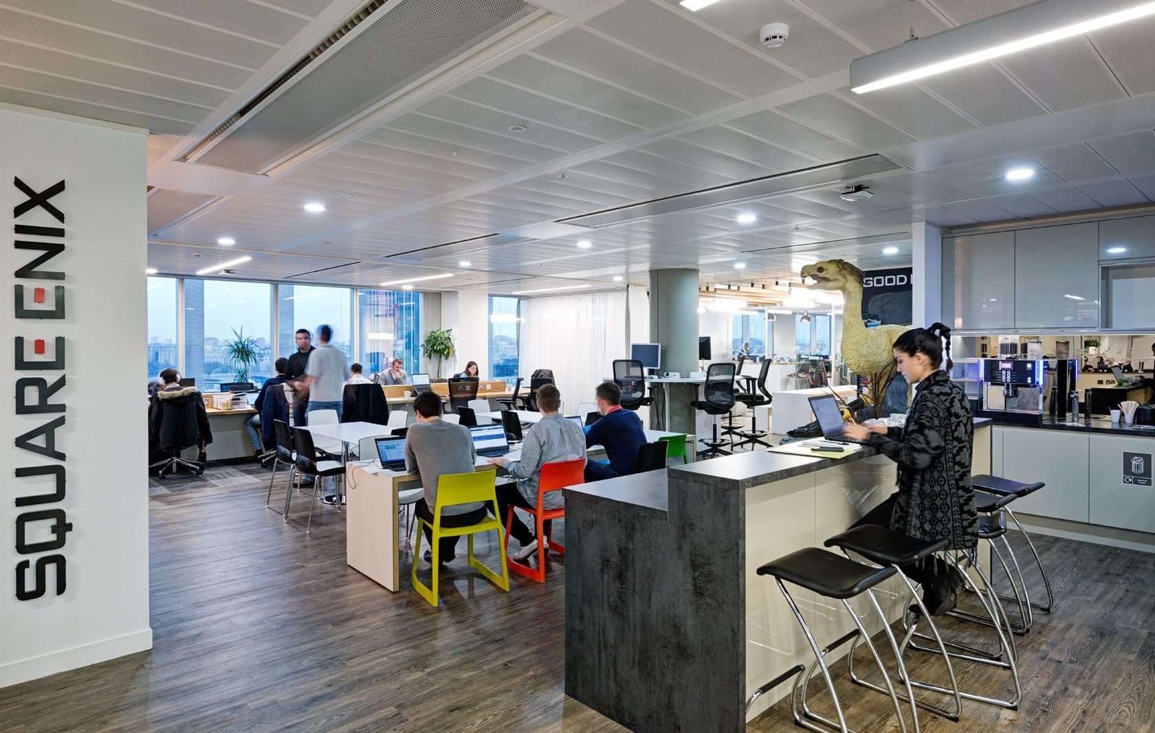 A look inside square enix s stylish london office for Square office design