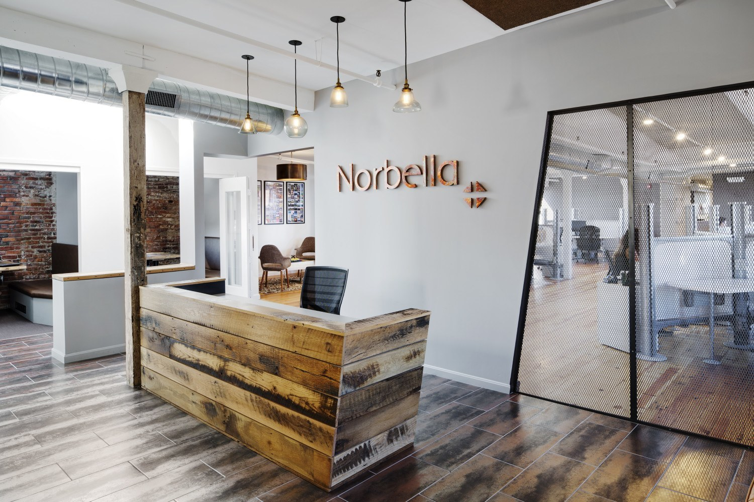 Inside norbella s sleek boston office officelovin 39 for Office space design companies