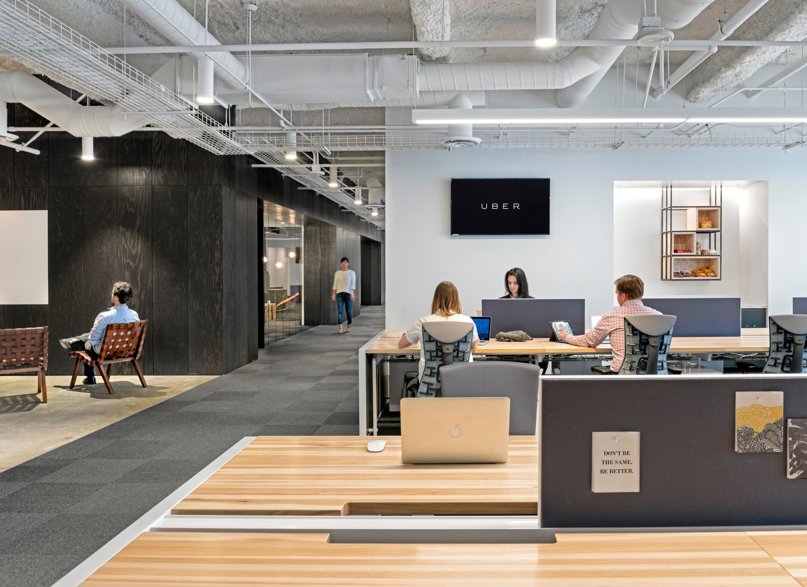 new office design cabin workspace tour of ubers new san francisco office officelovin