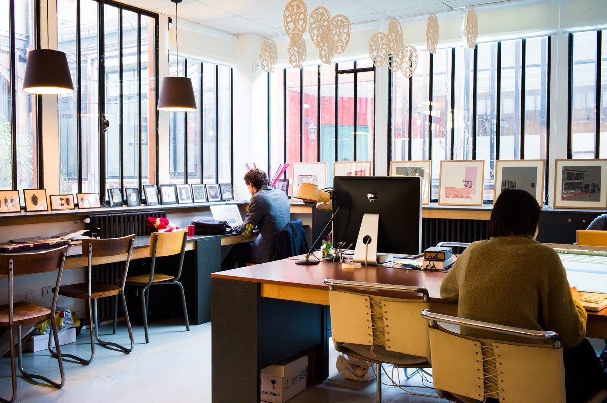 Check Out Photos of Laptop's Creative Coworking Space in Paris