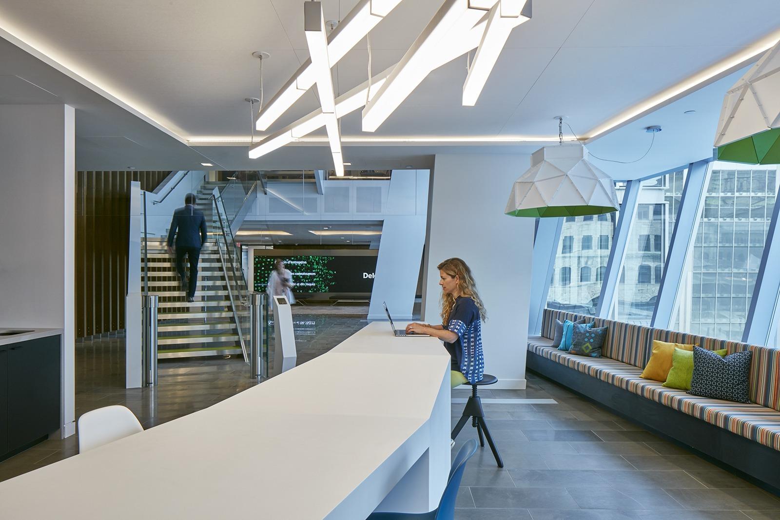 Inside deloitte s new elegant montreal office officelovin 39 for Design hub interior decoration llc