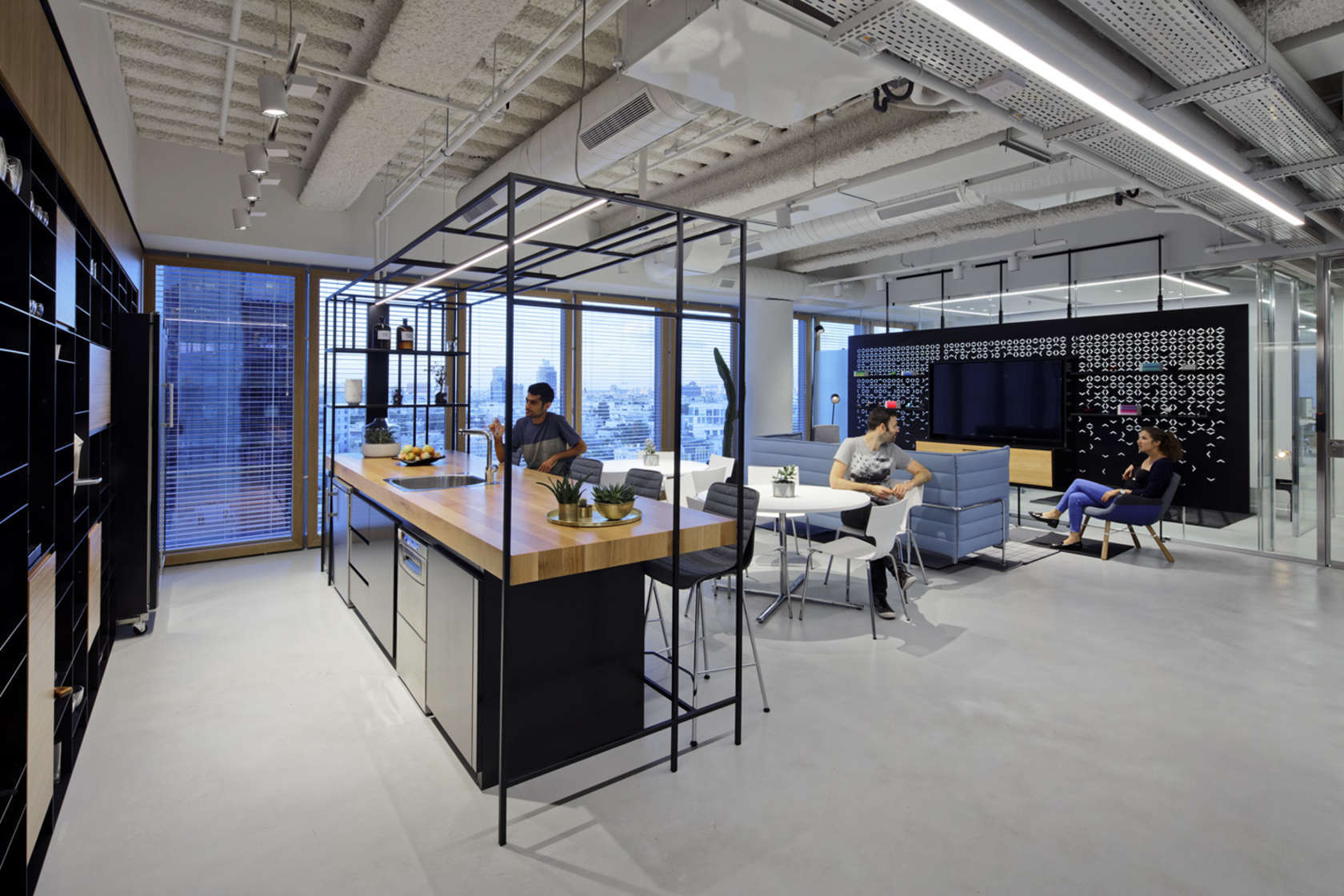 Inside palantir s stylish tel aviv office officelovin 39 for Interior architecture companies