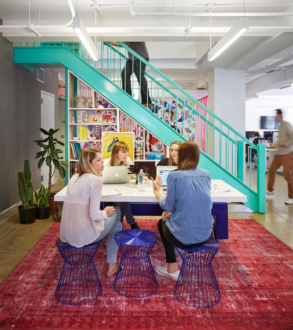The Refinery29 headquarters in NYC photographed by John Muggenborg.