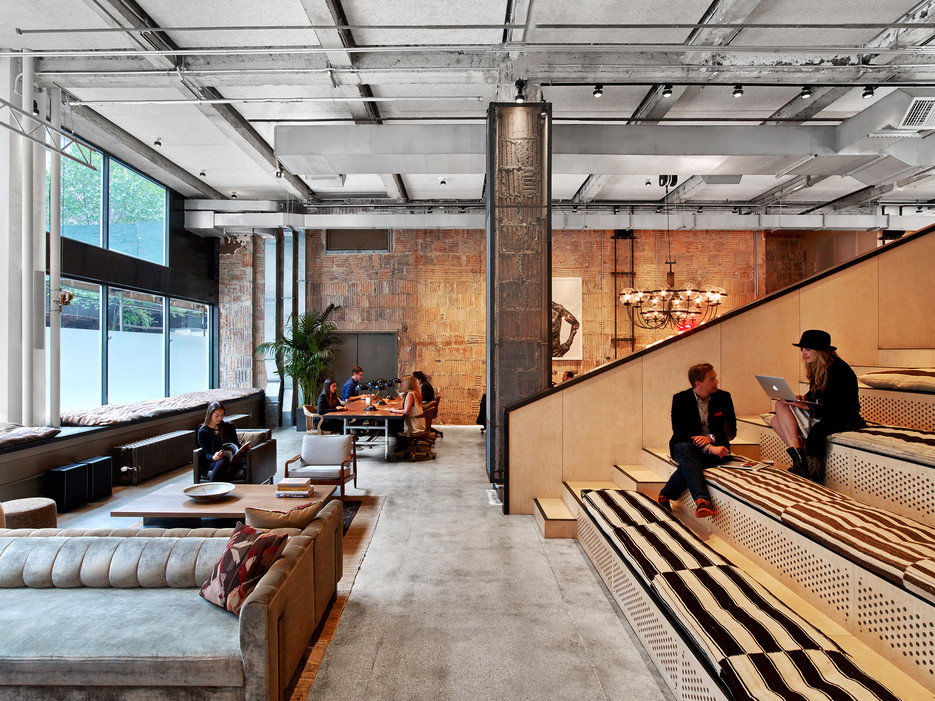 Inside neuehouse s super stylish nyc coworking space for Commercial interior design firms nyc