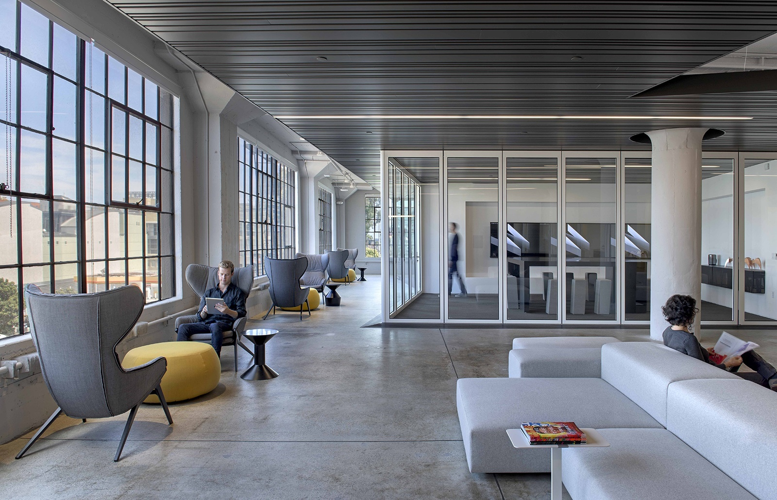 A tour of wired s new sleek san francisco headquarters for New office layout