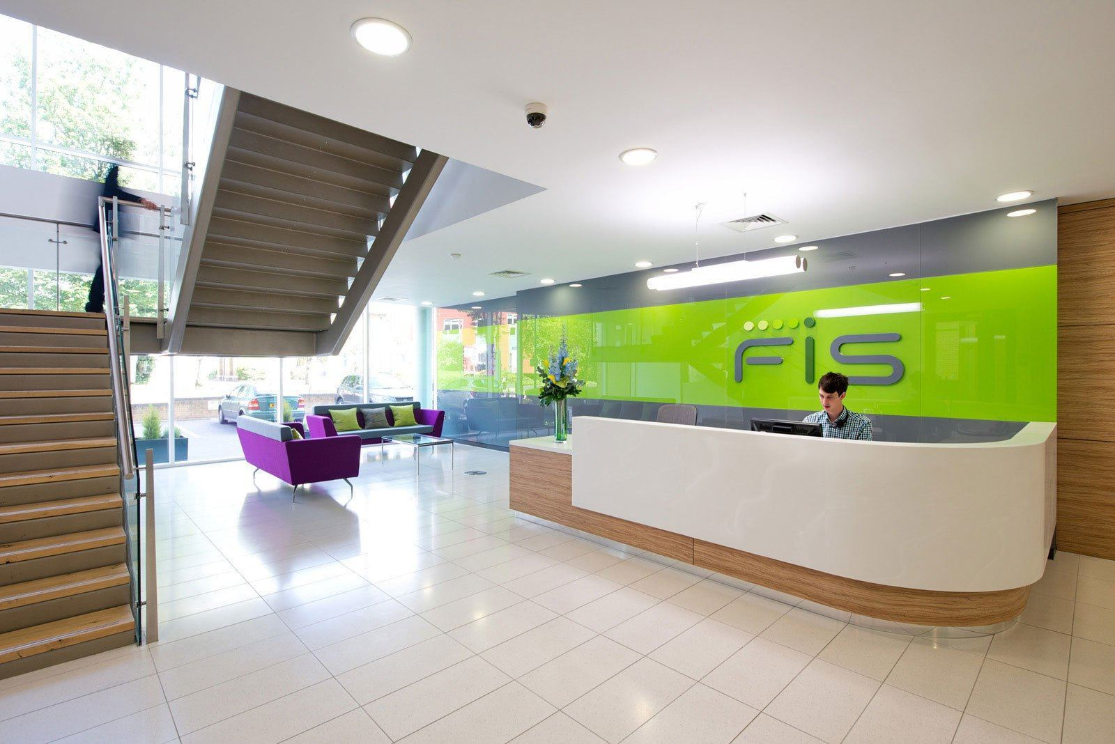 Inside fis modern office in watford officelovin 39 for Office photos