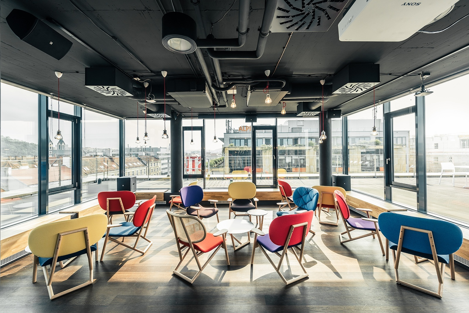 A tour of strv s super cool prague office officelovin 39 for Cool office rooms