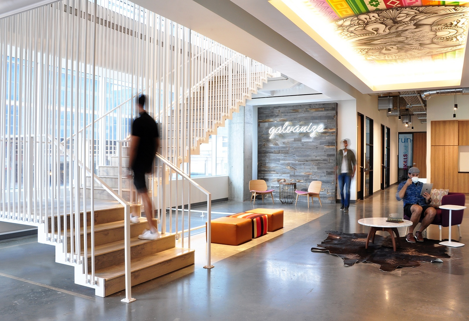 Galvanize – lauckgroup – Stair Base
