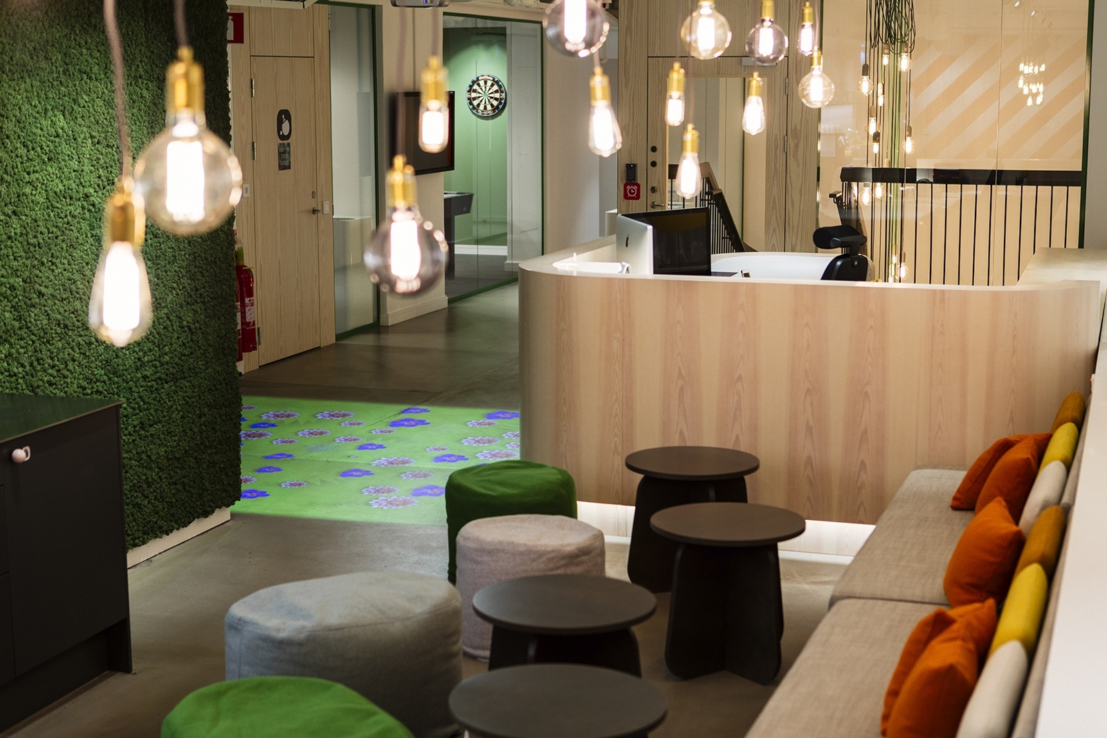 stockholm office.  office lobby and stockholm office f