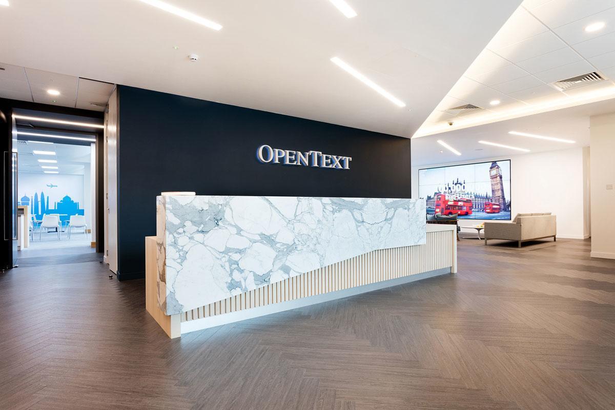 Inside Opentext S New Office In Reading Officelovin
