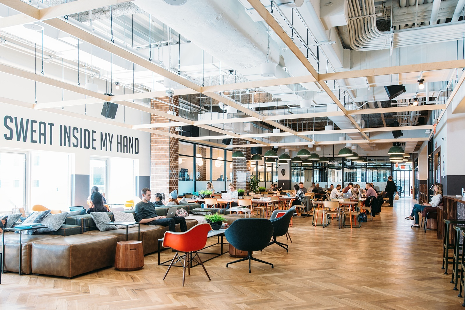 A look inside wework s williamsburg coworking space - University of maryland interior design ...