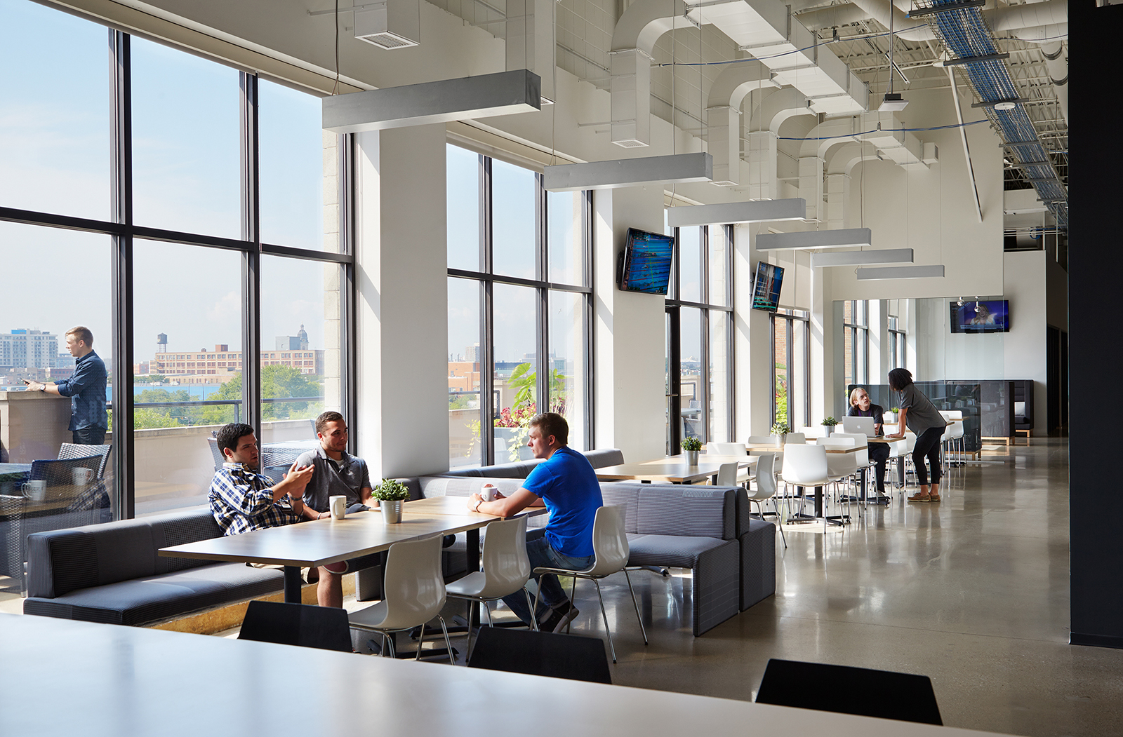 A look inside ncsa s new sleek chicago office officelovin 39 - Interior design firms chicago ...