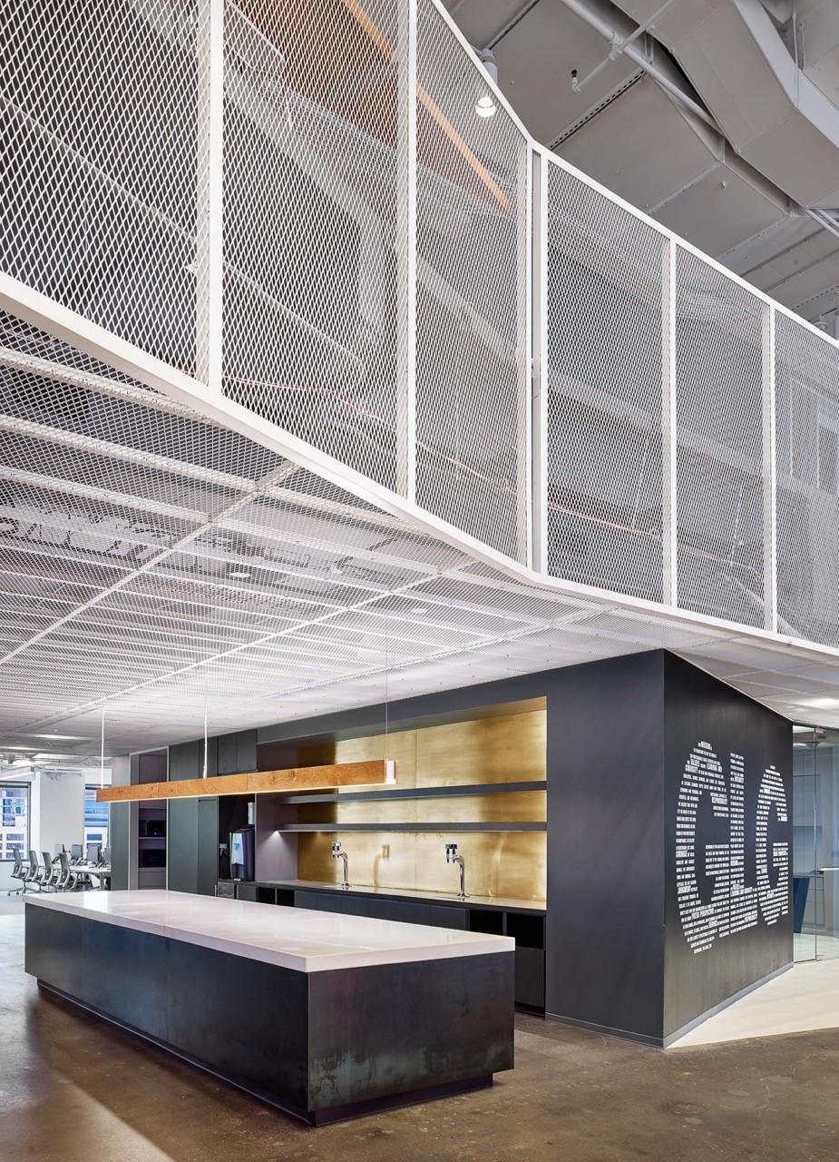 A tour of glg s sleek austin office officelovin 39 for Office design dezeen
