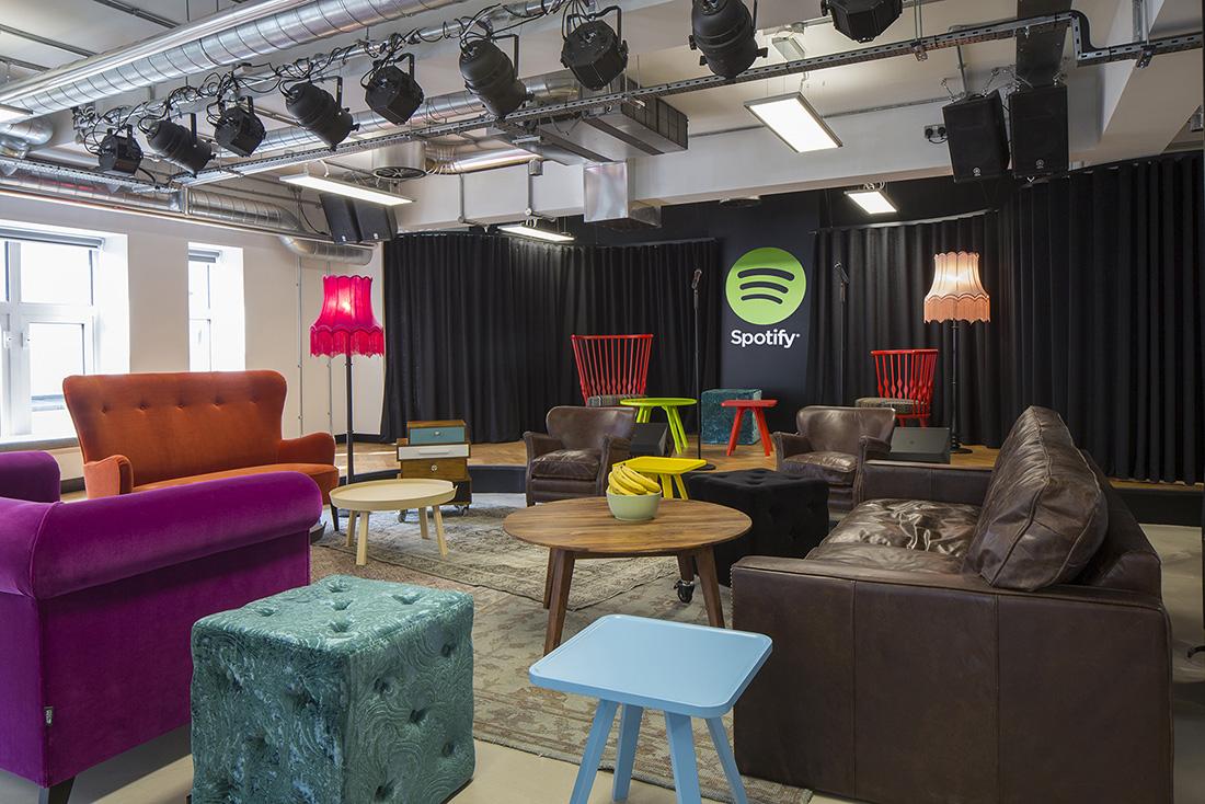 Inside Spotify's Fashionable London Office