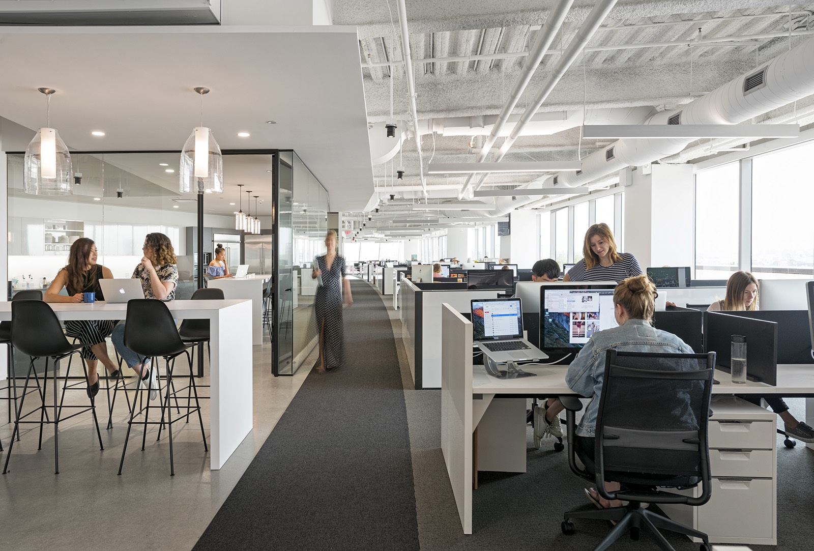 A tour of clique media group s sleek los angeles office for Office pictures