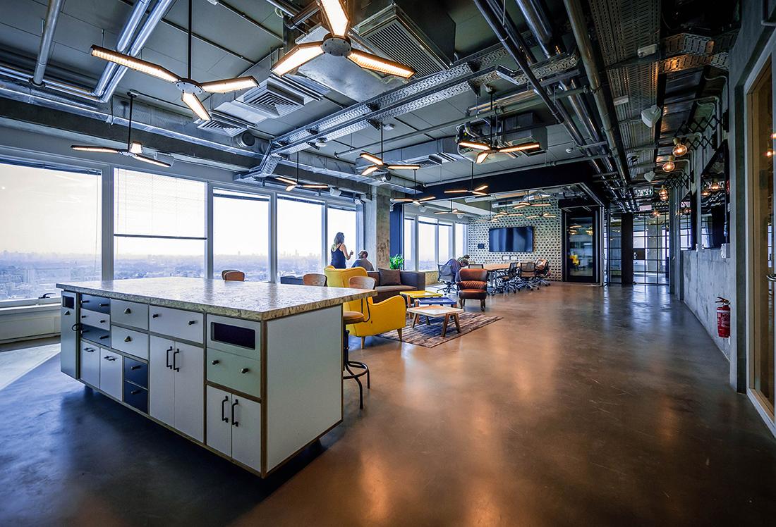 a tour of palo alto networks modern tel aviv office officelovin 39. Black Bedroom Furniture Sets. Home Design Ideas