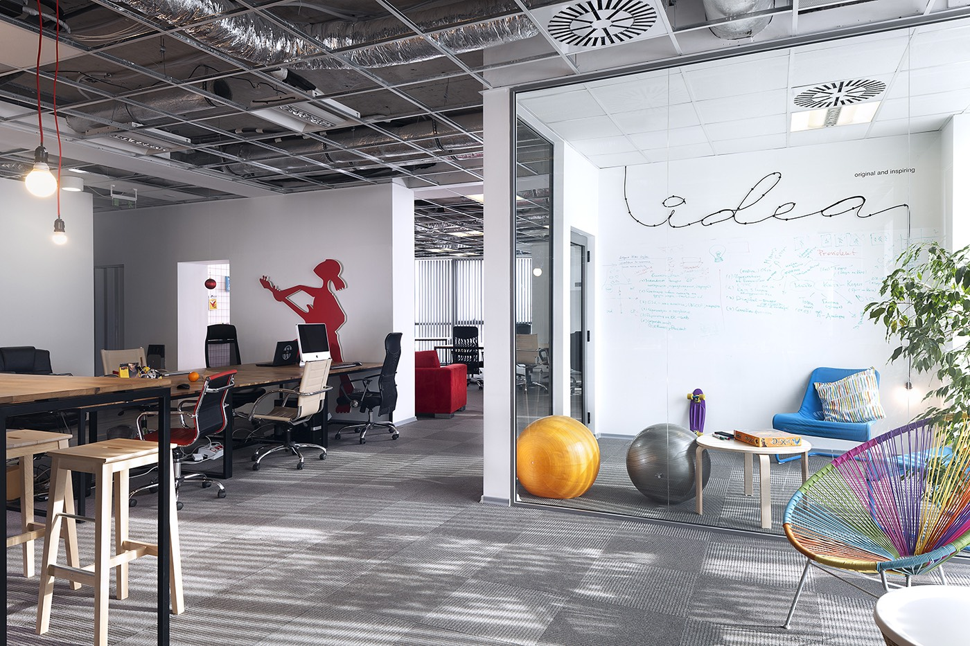 A look inside publicis cool new sofia office officelovin 39 for Cool small office designs