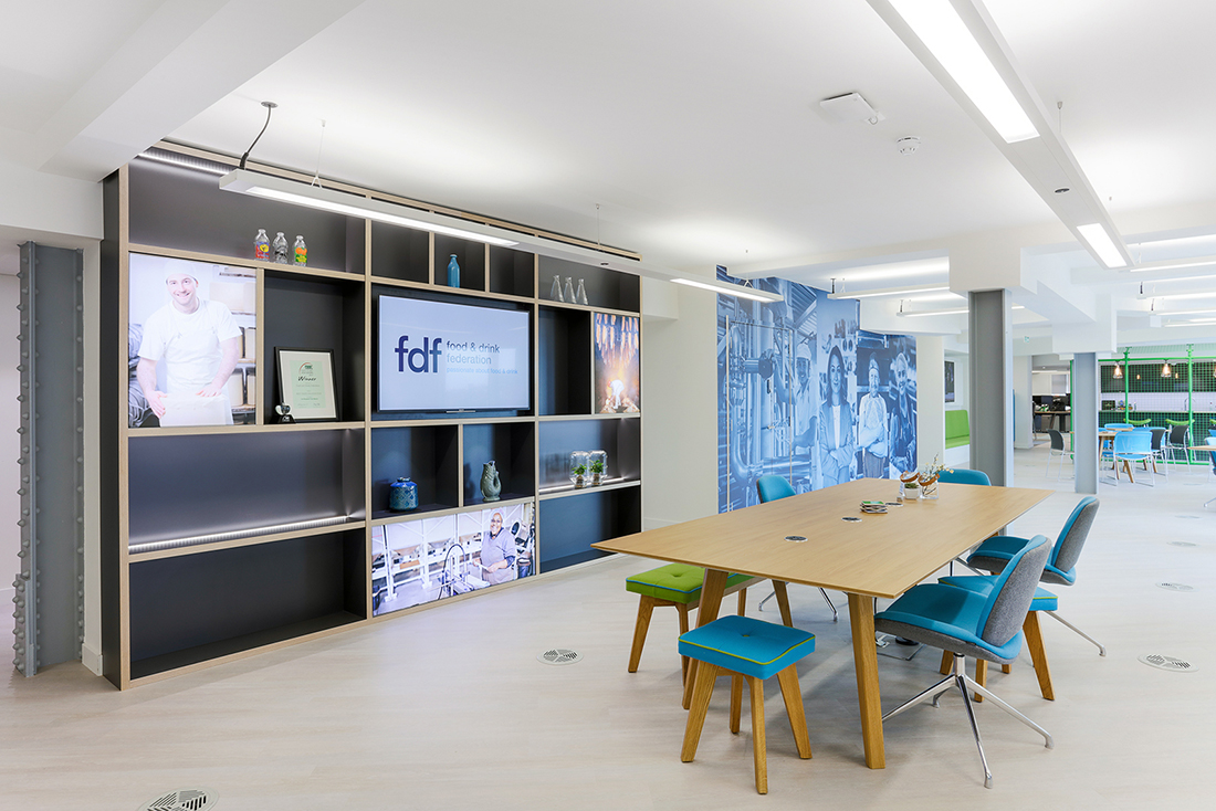 Inside food and drink federation s new london office for Office design london