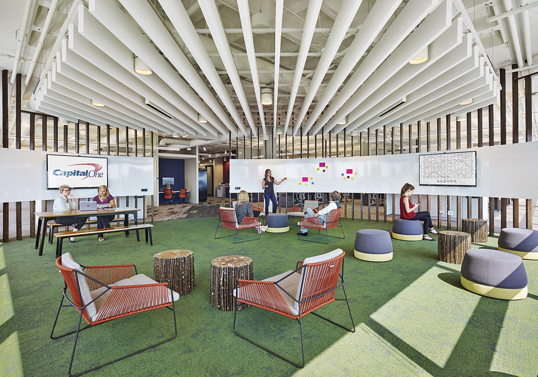 Inside Capital One's Sleek Rolling Meadows Office