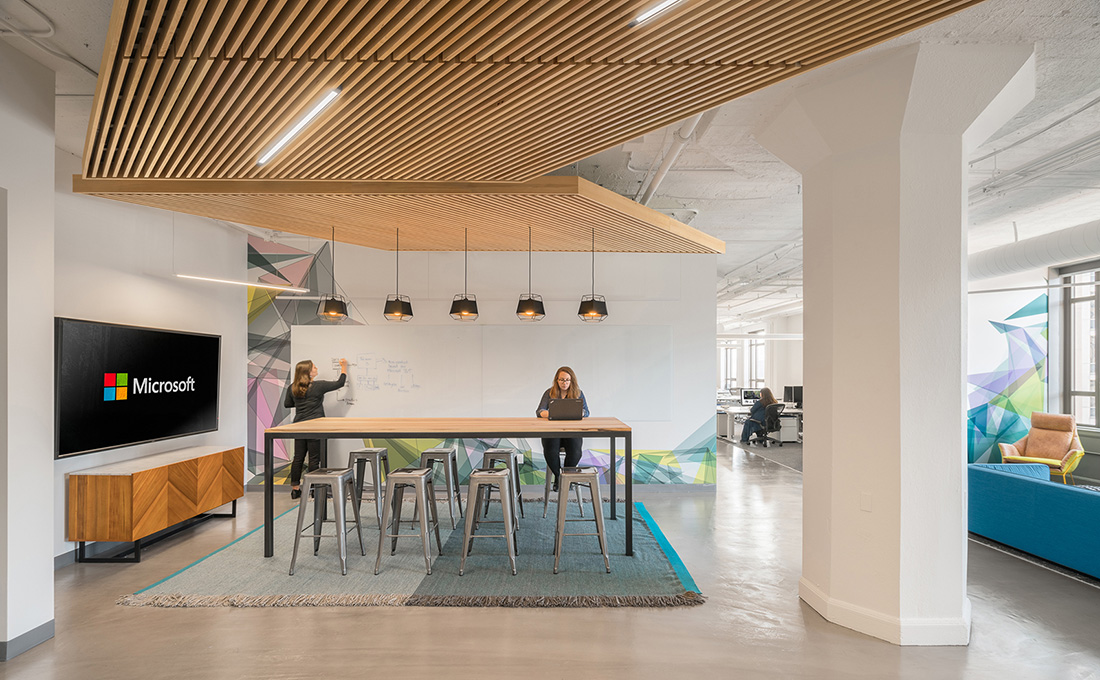 A tour of microsoft s new san francisco office expansion for Design companies in san francisco