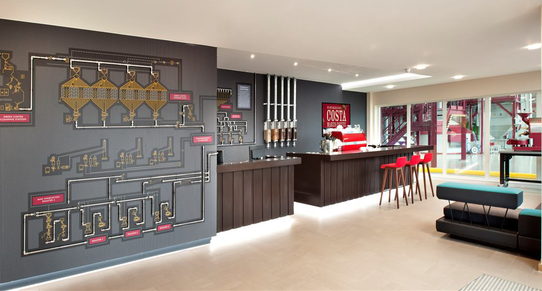 Inside Costa Coffees New Basildon Office Officelovin