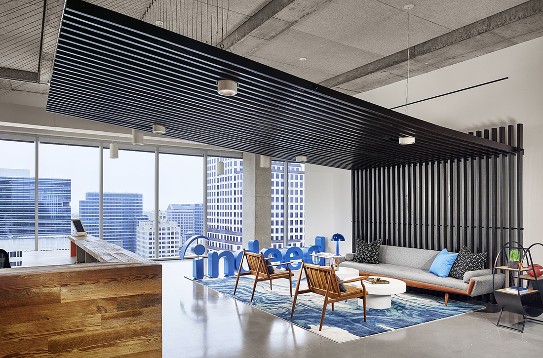 A tour of indeed s austin office expansion officelovin 39 - Austin interior design firms ...