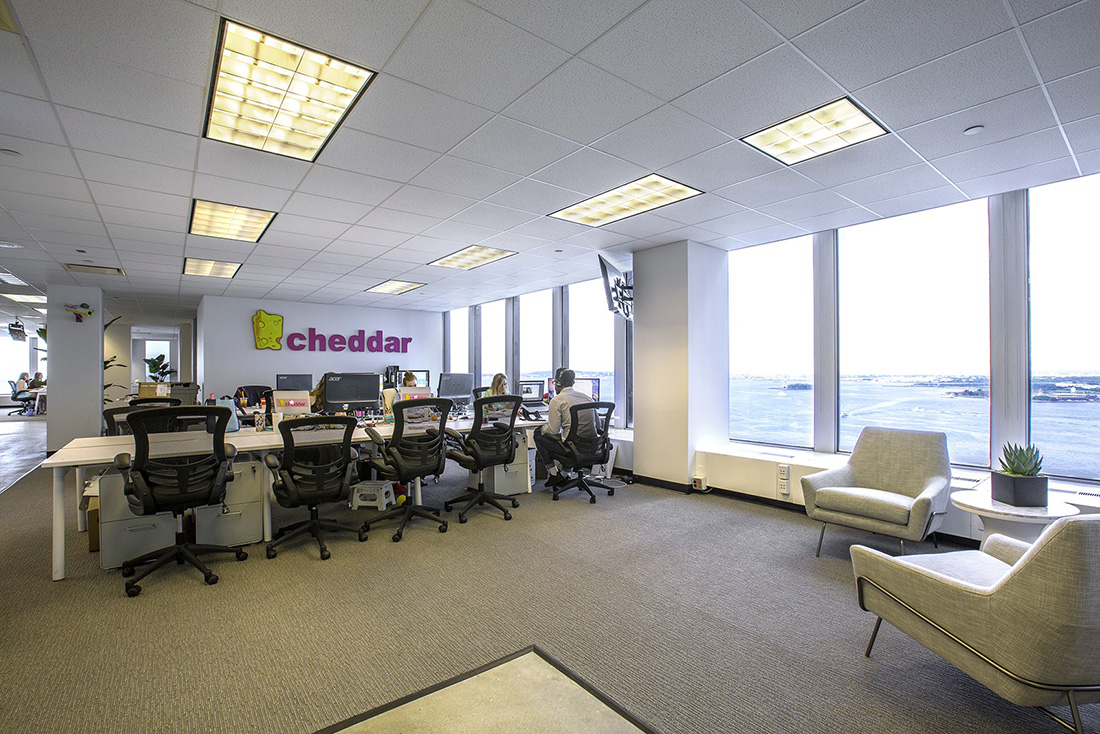 A Peek Inside Cheddar's New NYC Office