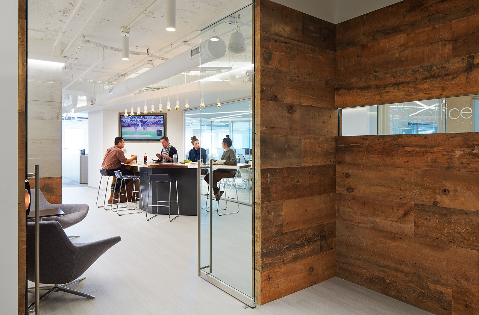 A tour of office revolution s elegant chicago office - Top interior design firms chicago ...