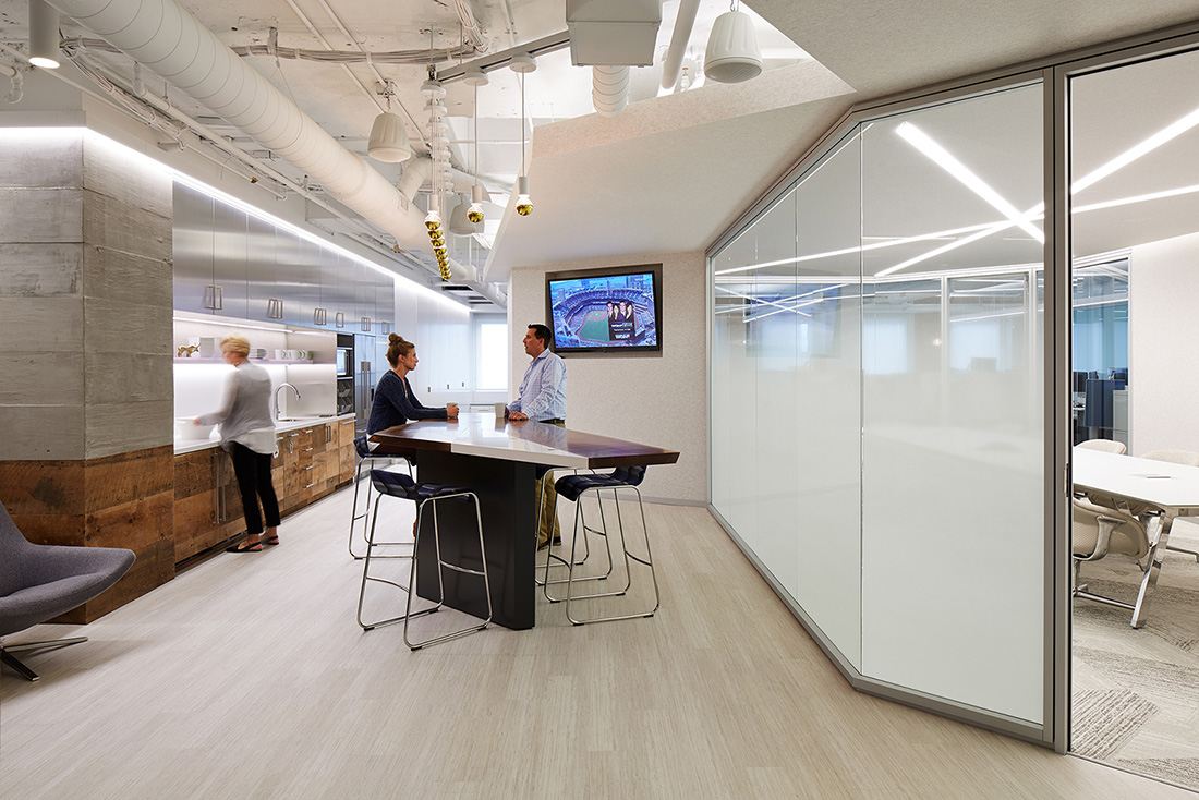 A tour of office revolution s elegant chicago office officelovin 39 for Top interior design firms in nyc