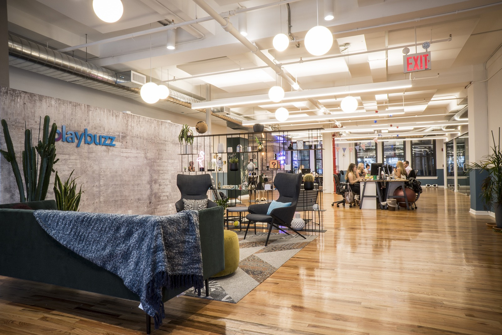 A peek inside playbuzzs new nyc office officelovin lobby sciox Image collections