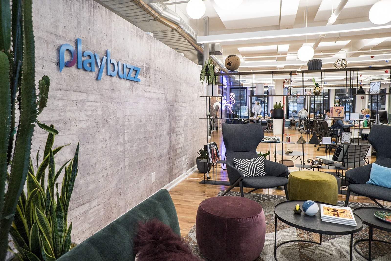 A peek inside playbuzzs new nyc office officelovin open office sciox Image collections